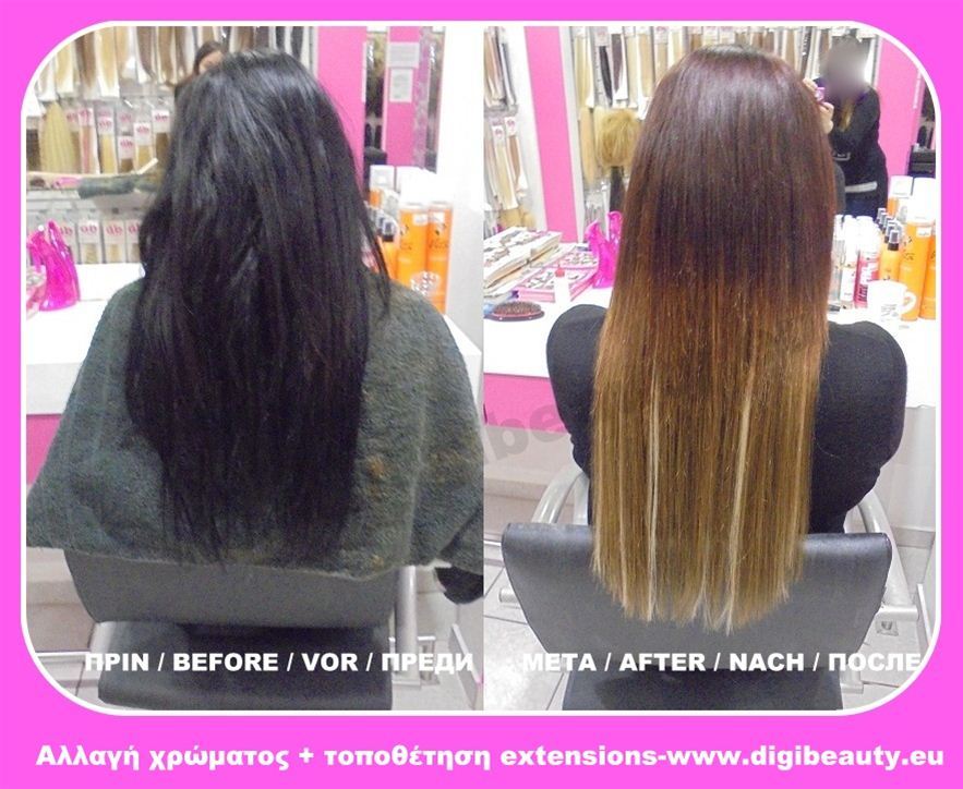 Digibeauty Changing Hair Color And Placement 60 Strands Hair