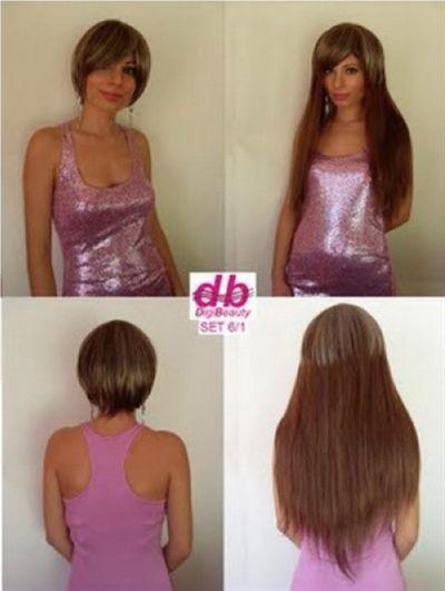 Kurze haare extensions